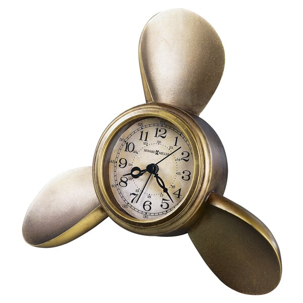 Propeller Arm Maritime Table Clock by Howard Miller®