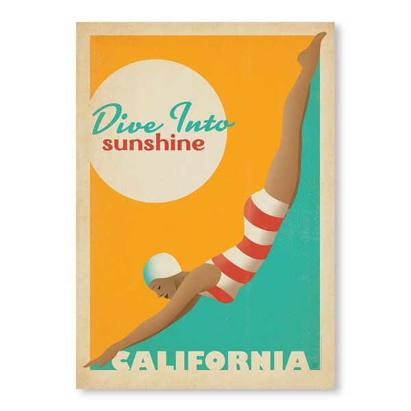 Dive into Sunshine Vintage Advertisement by East Urban Home