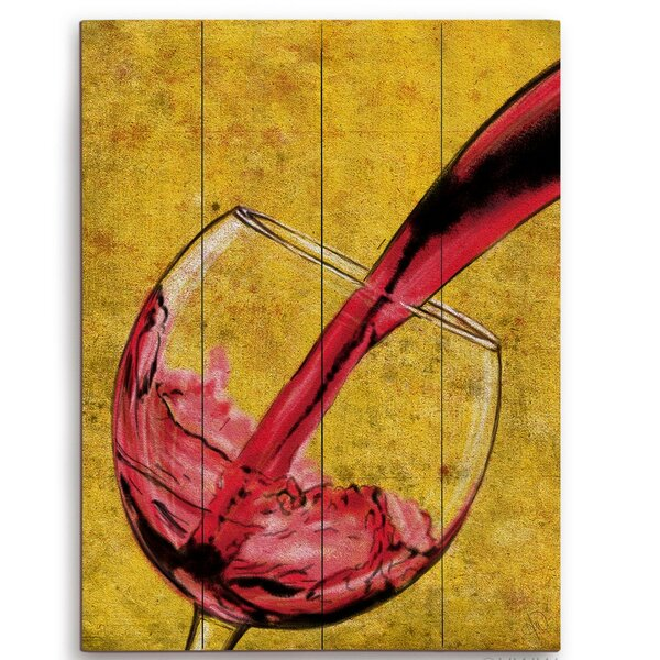 Pour Of Red Wine Painting Print by Click Wall Art