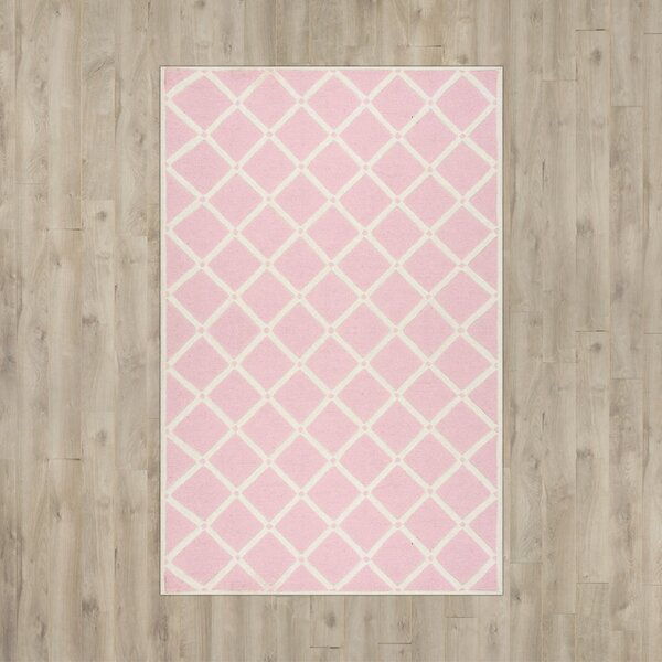 Seo Hand-Hooked Pink Area Rug by Viv + Rae