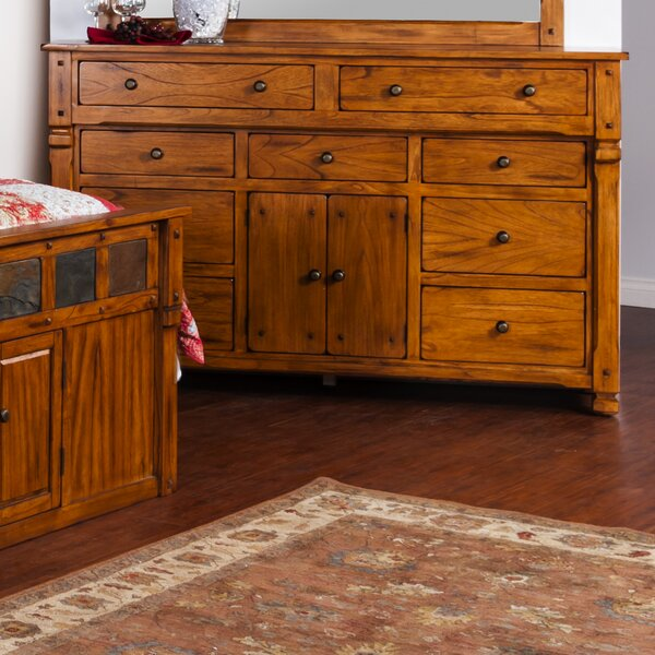 Fresno 9 Drawer Combo Dresser by Loon Peak