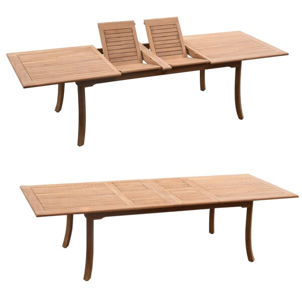 Dwayne Luxurious 11 Piece Teak Dining Set by Rosecliff Heights