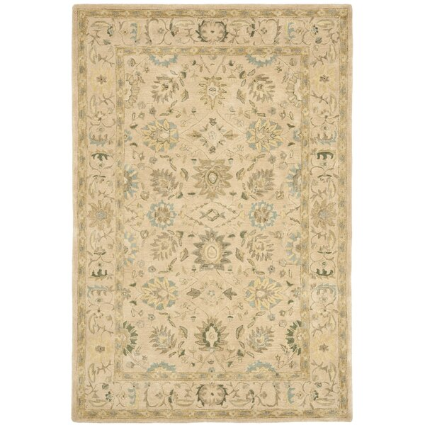 Anatolia Hand-Tufted Wool Taupe/Blue Area Rug by Safavieh