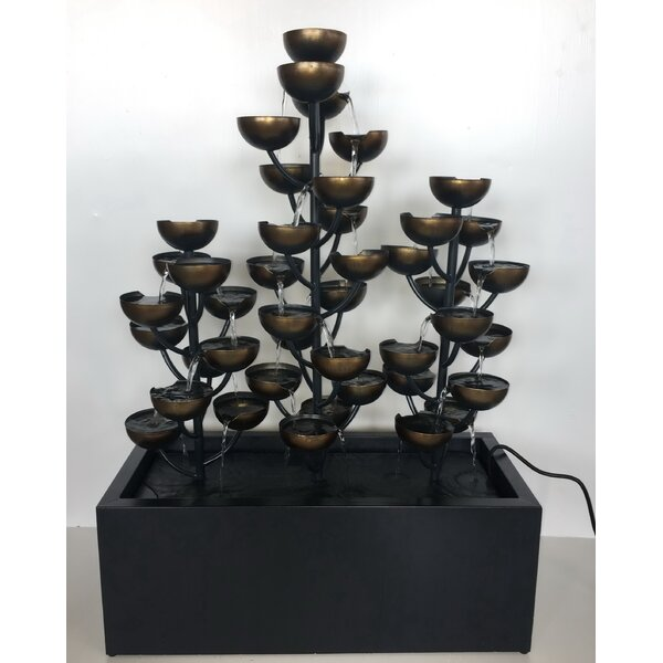 Zinc Metal Multi Level Cups Fountain by Hi-Line Gift Ltd.