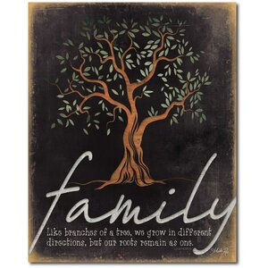 'Family Tree' Graphic Art on Wrapped Canvas by Courtside Market