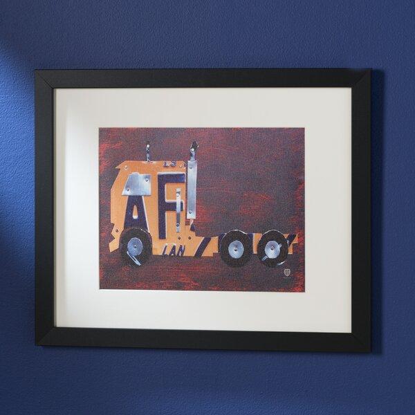 Semi Truck by Design Turnpike Framed Art by Viv + Rae