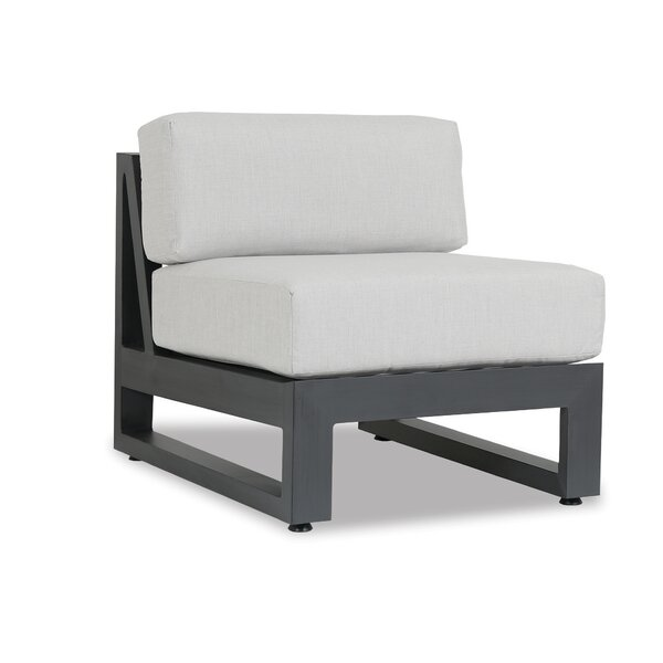 Redondo Armless Patio Chair with Sunbrella Cushions by Sunset West
