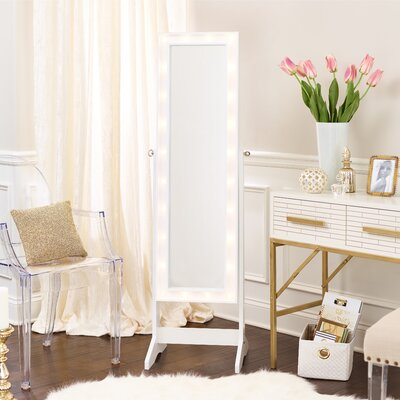 Free Standing White Jewelry Armoires You Ll Love Wayfair