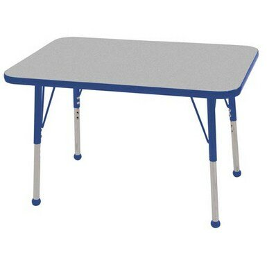 Thermo-Fused Adjustable 24 x 36 Rectangular Activity Table by ECR4kids