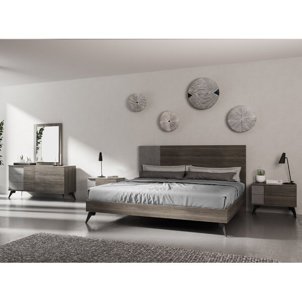 Bayport Italian Modern Platform 5 Piece Bedroom Set by Ivy Bronx