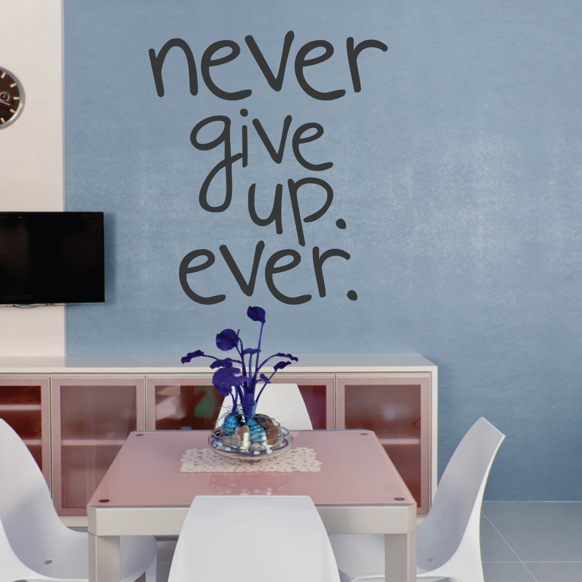 & Wallums Wall Decor Never Give Up Quote Wall Decal | Wayfair