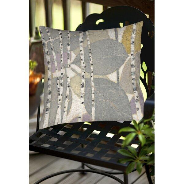 Birch Leaf 2 Indoor/Outdoor Throw Pillow by Manual Woodworkers & Weavers