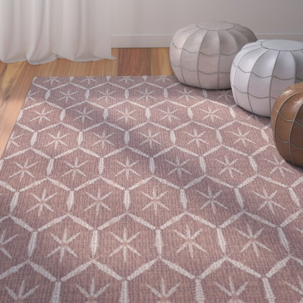 Lassiter Geometric Maroon Area Rug by Bungalow Rose