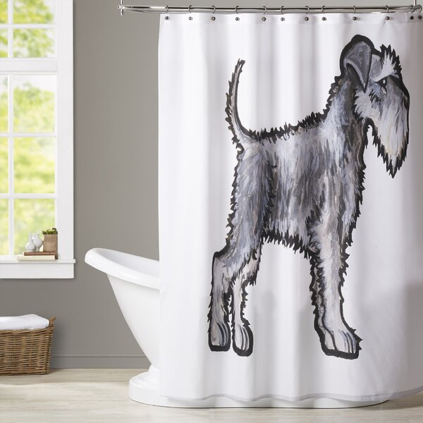Brott Schnauzer Shower Curtain by Brayden Studio