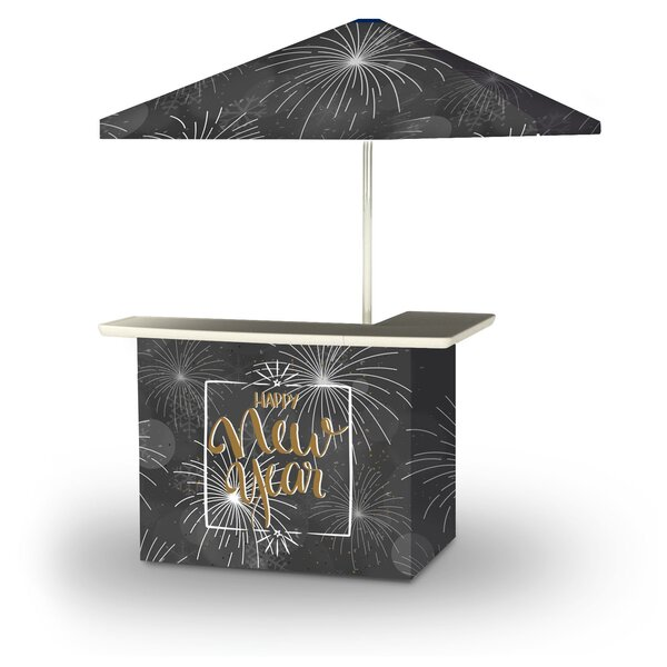 Zioutas New Year Fireworks Snowflakes 2-Piece Home Bar Set by East Urban Home