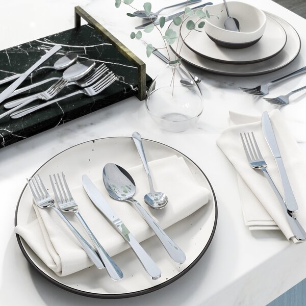 "Wayfair Basics 20 Piece Stainless Steel Flatware Set, Service for 4 by Wayfair Basicsâ""¢"