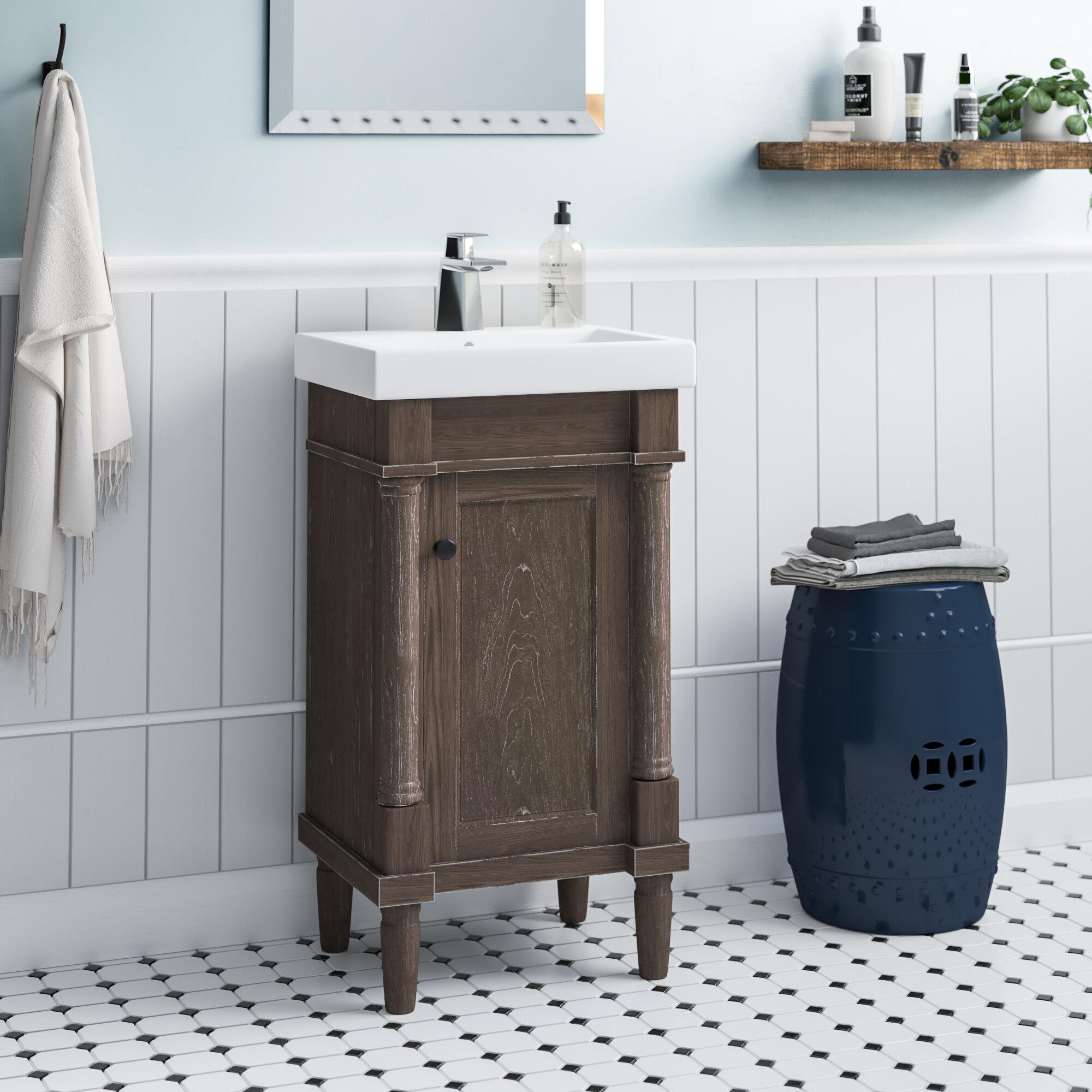 Gracie Oaks Malena 18 Single Sink Bathroom Vanity Set Reviews