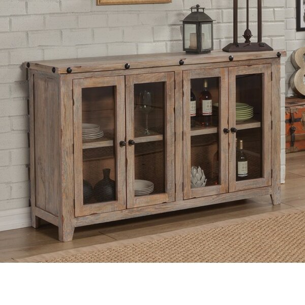 Becher Traditional Wooden 4 Door Accent Cabinet by Gracie Oaks