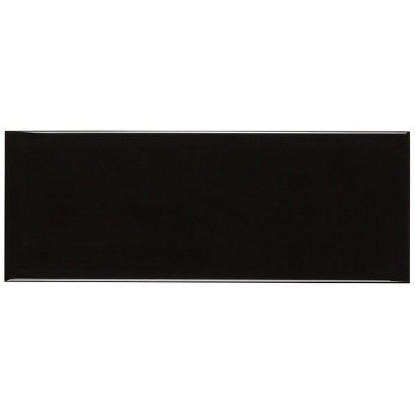 Baltimore 6 x 16 Beveled Ceramic Field Tile in Black by Itona Tile
