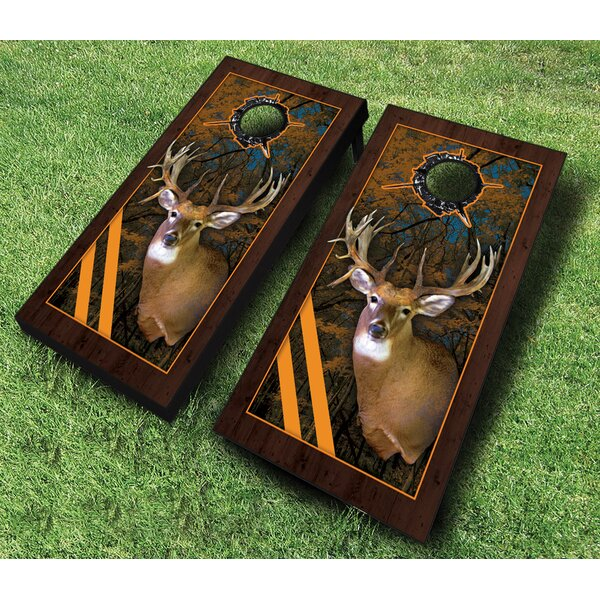 10 Piece Framed Deer Cornhole Set by AJJ Cornhole