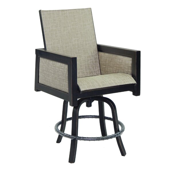 Gold Coast Sling Swivel Patio Bar Stool by Leona