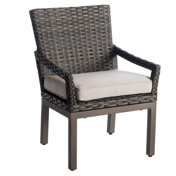 Eibhlin Patio Dining Chair with Cushion (Set of 2) by Bayou Breeze