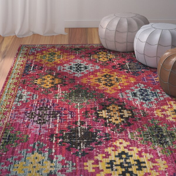 Chana Fuchsia Area Rug by Bungalow Rose