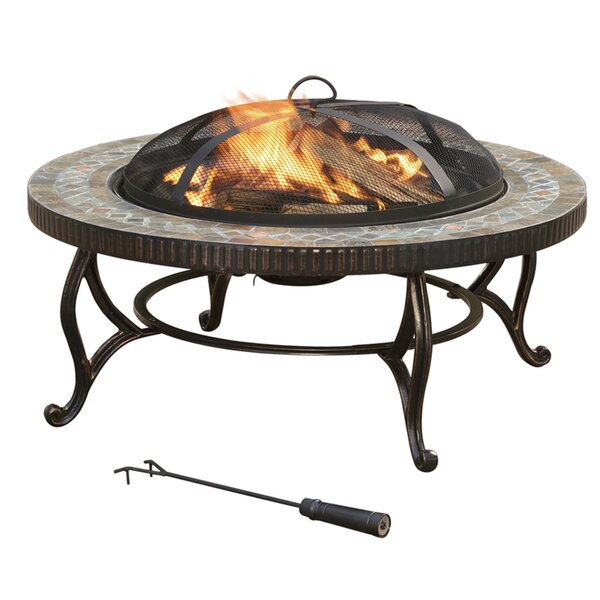 Metal Wood Burning Fire Pit Table by Pleasant Hearth
