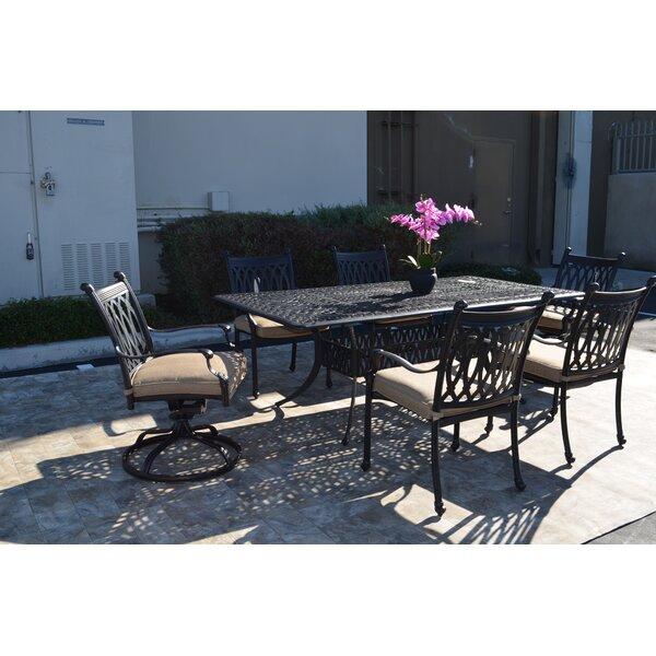 Baragrey 7 Piece Dining Set with Cushions by Fleur De Lis Living