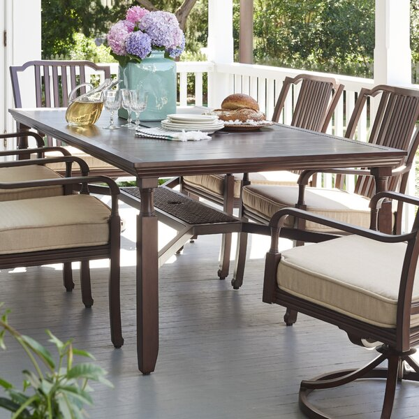 Bade Metal Dining Table by Canora Grey