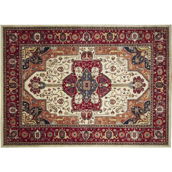 One-of-a-Kind Abernethy Fine Hand-Knotted Ivory Area Rug by Isabelline