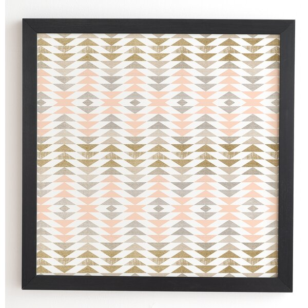 Metallic Triangles Framed Graphic Art by Langley Street