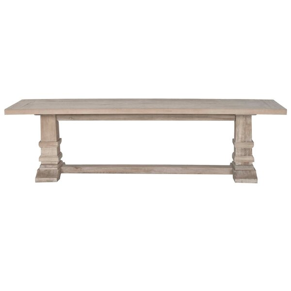 Cleo Wooden Large Wood Dining Bench by Gracie Oaks