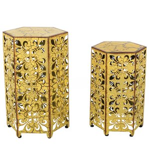 Caroline 2 Piece Nesting Tables by Bungalow Rose