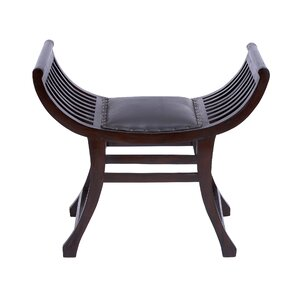 Wood Leather Stool  sc 1 st  Wayfair & Leather Sling Stool | Wayfair islam-shia.org