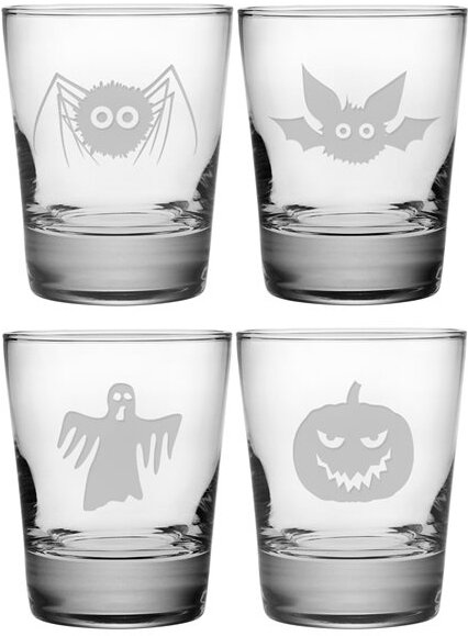 Scary Creatures Double Old Fashioned Glass (Set of 4) by Susquehanna Glass