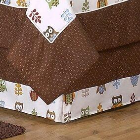 Night Owl Queen Bed Skirt by Sweet Jojo Designs