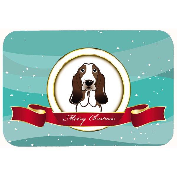 Basset Hound Merry Christmas Kitchen/Bath Mat