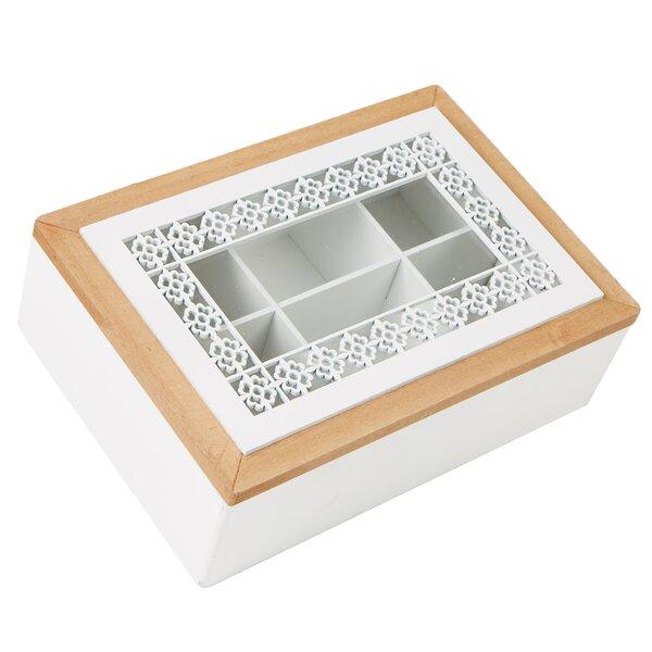 Storage Holder Tea Box with Glass Window by Mind Reader