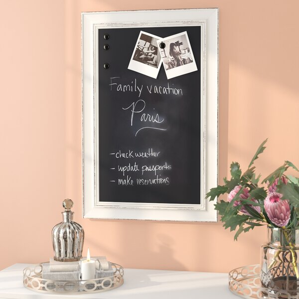 Wall Mounted Chalkboard by House of Hampton
