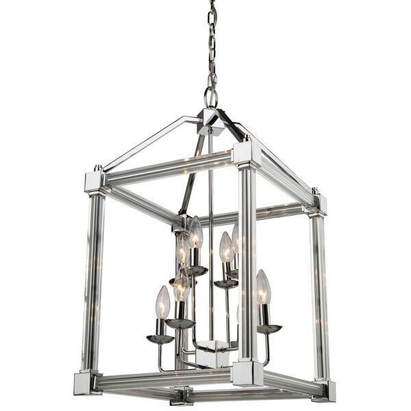 Threlkeld 8 - Light Lantern Square Chandelier by Brayden Studio Brayden Studio