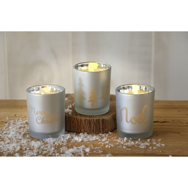 Glass Votive Set (Set of 3) by The Holiday Aisle