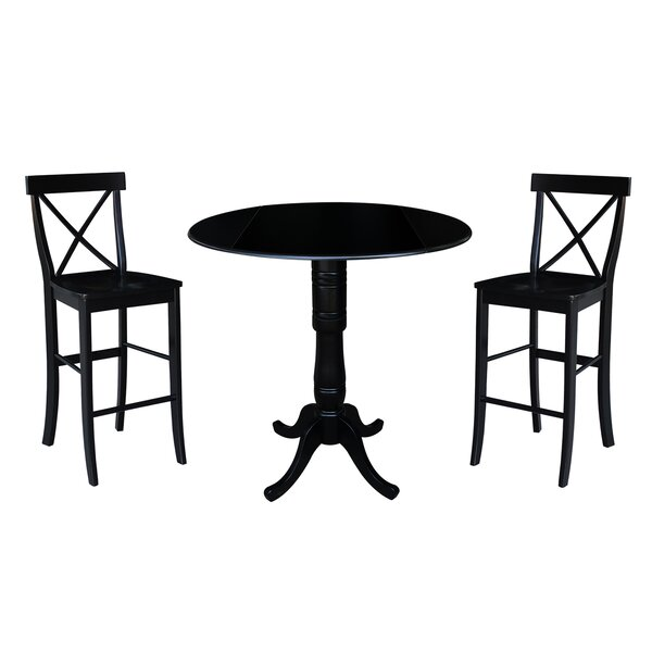 Kimble 3 Piece Pub Table Set by Rosecliff Heights