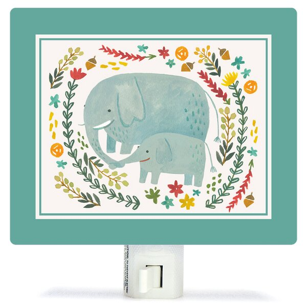 I Carry Your Heart Elephants by Irene Chan Canvas Night Light by Oopsy Daisy