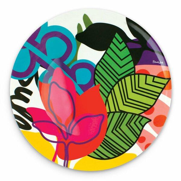 Oasis Round Melamine Platter by French Bull