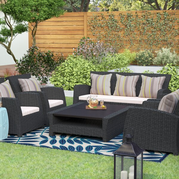 Coast 11 Piece Rattan Sectional Seating Group with Cushions by Beachcrest Home