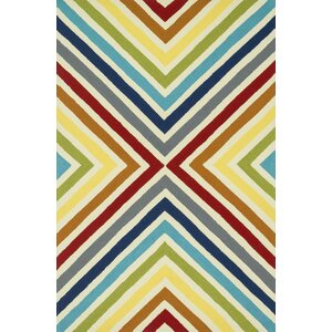 Palm Springs Hand-Hooked Red/Yellow Indoor/Outdoor Area Rug