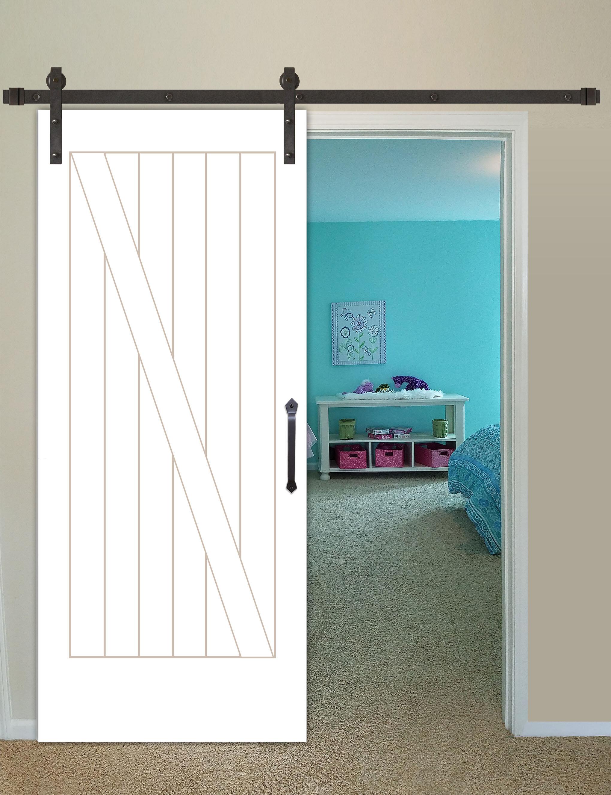 CreativeEntryways Shaker 2-Panel Prime Solid Panelled Wood Interior ...