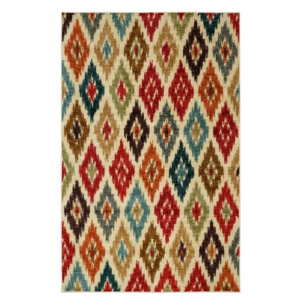 Amberson Red Area Rug by Bungalow Rose
