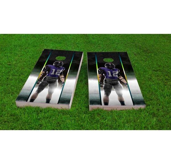 Football Player Light Weight Cornhole Game Set by Custom Cornhole Boards